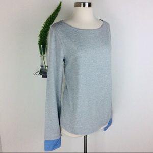 J Crew Stylishly Simple Gray Long Sleeve Tees